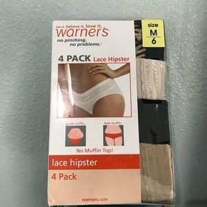 BNIB 4 Pack Lace Hipster Panties